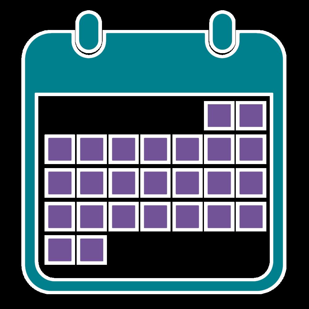Cronograma das aulas de estudos de recuperação