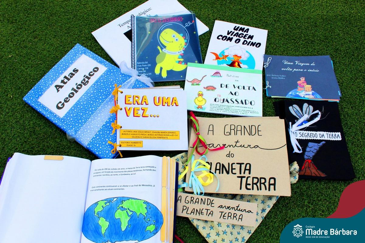 Alunos do CMB criam livros infantis sobre o tempo geológico