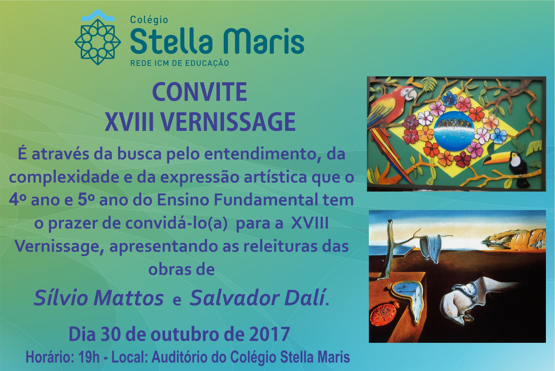 Convite para XVIII Vernissage