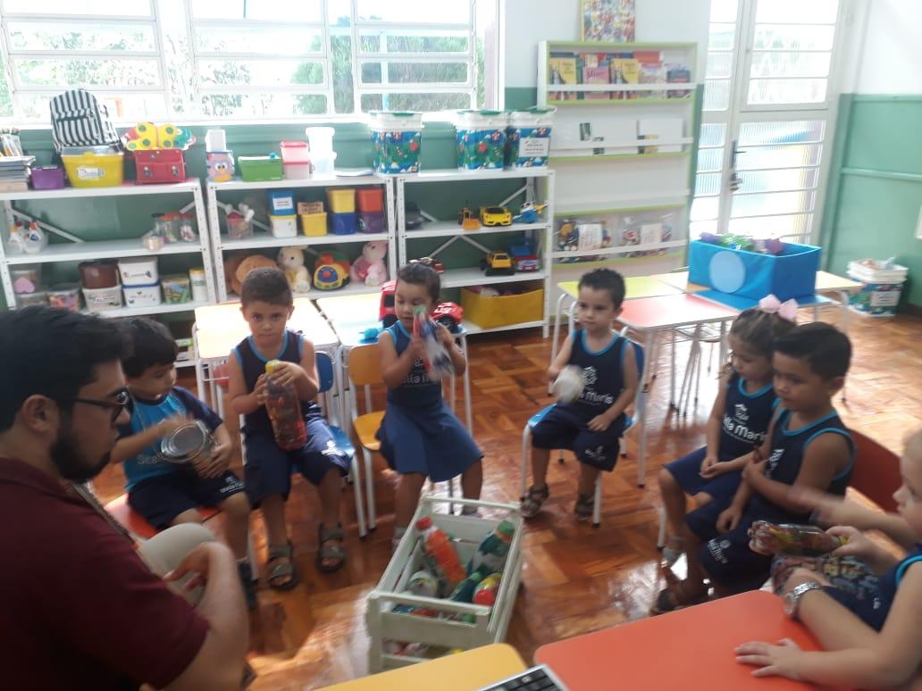 1° dia de aula da Educação Infantil do Colégio Stella Maris