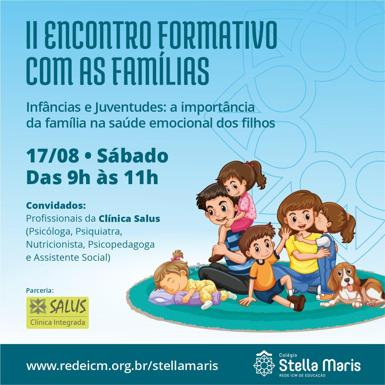 Convite: II Encontro Formativo com as Famílias