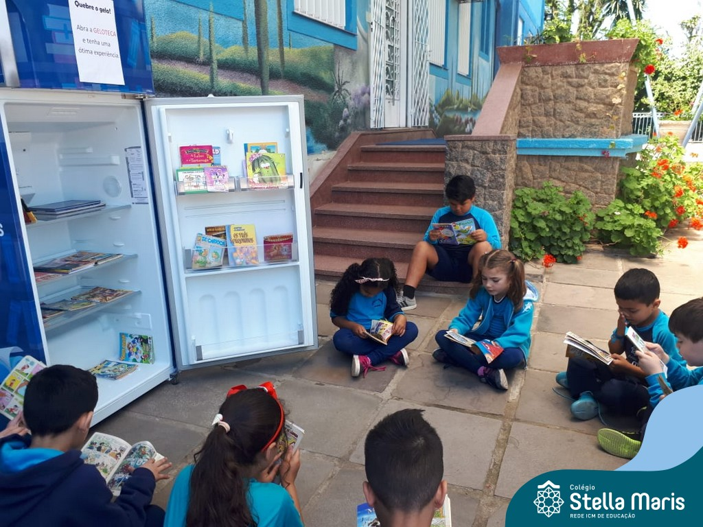 Os alunos da turma 11, ficaram encantados com a Geloteca do Stella